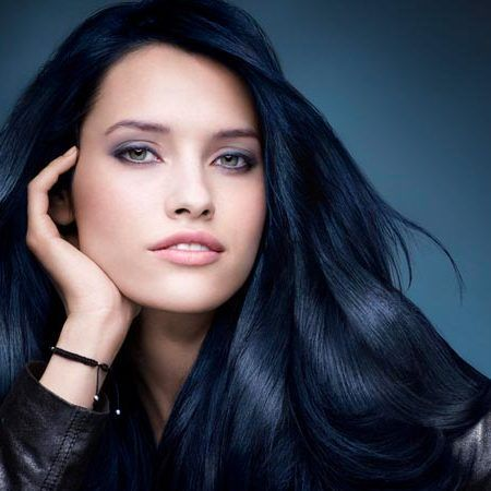 Blue Black Hair Tips And Styles | Dark Blue hair Dye Styles - Part 5
