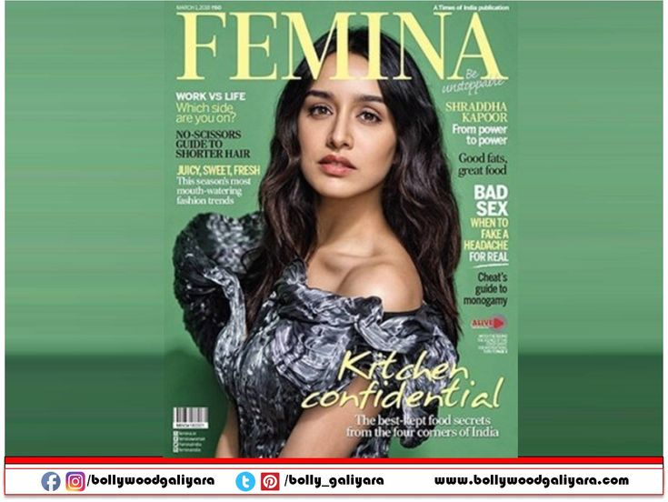 """""""Stunning and Talented actress Shraddha Kapoor is making a stylish statement on the cover page of """"Femina – Be Unstoppable"""" for the entire month of March."""""""