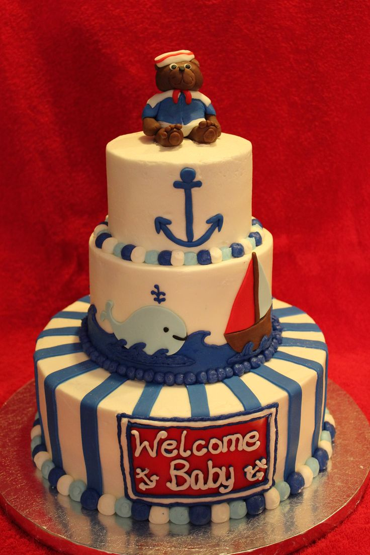 top 25 best nautical baby shower cakes ideas on pinterest the nautical cake baby shower baby shower decoration ideas is designed that talking about to the