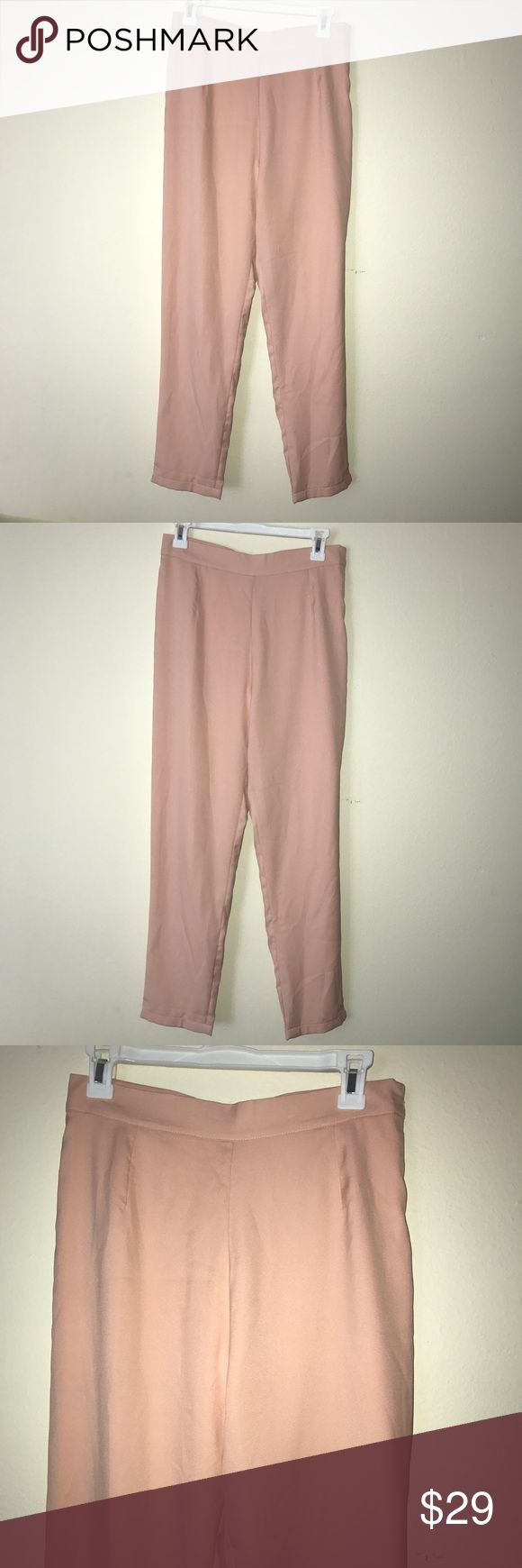 Light pink lulu's trousers There is a zipper on the side Offers accepted Lulu's Pants Trousers
