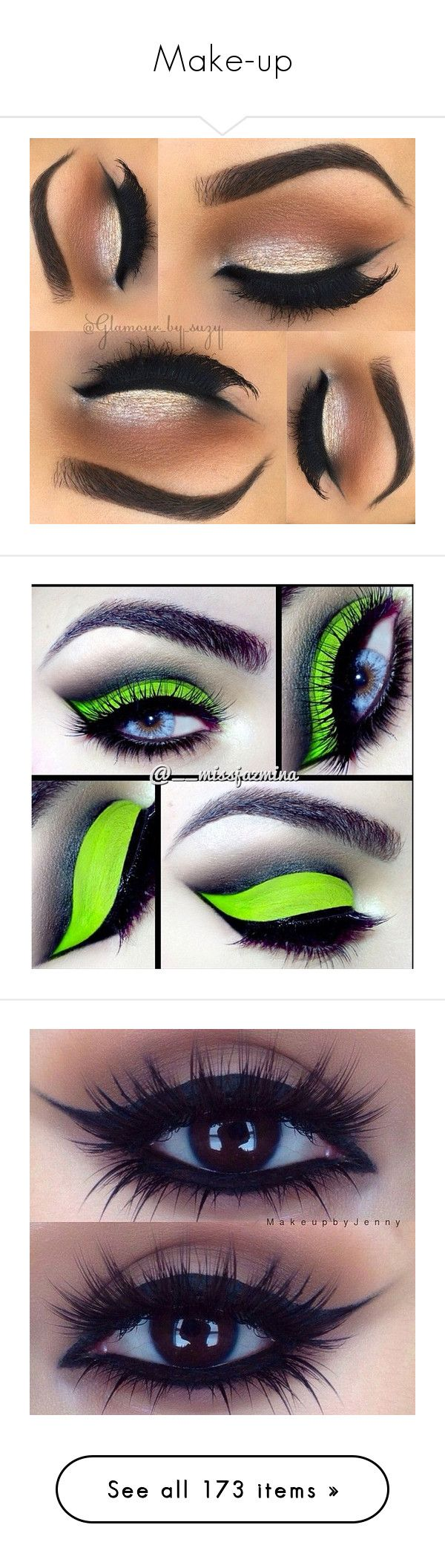 """""""Make-up"""" by makhinegankaller14 ❤ liked on Polyvore featuring beauty products, makeup, eye makeup, eyeshadow, eyes, beauty, palette eyeshadow, eye make-up, eye brow makeup and lip makeup"""