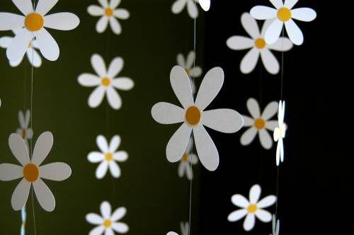 Цветочная гирлянда из бумаги - Праздничные гирлянды - Украшаем квартиру к празднику - Каталог статей - Устроим…