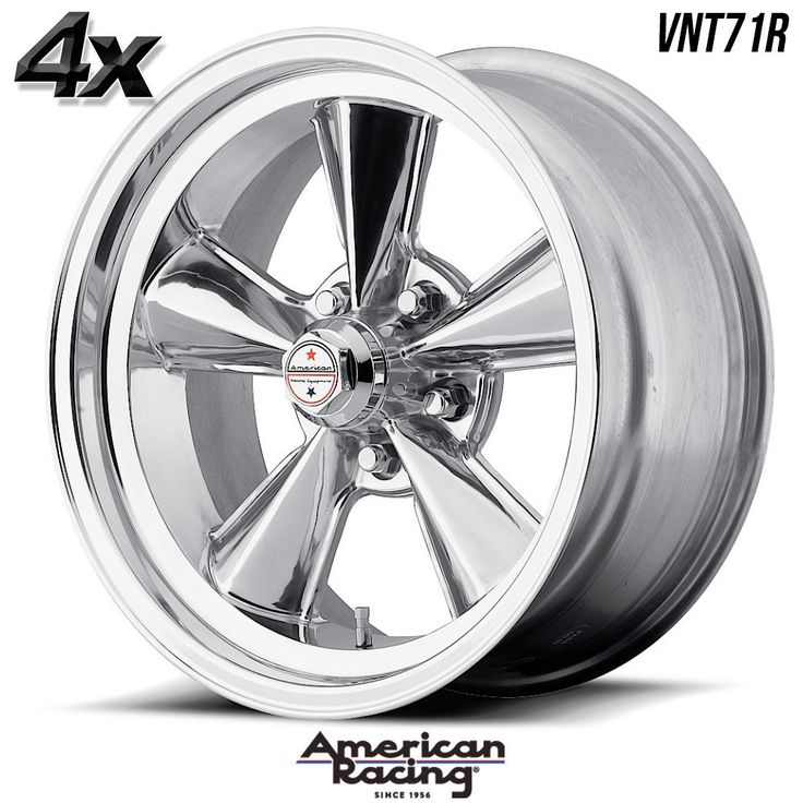 "4 American Racing VNT71R 17""x7"" 5x114.30 Polished OFST:0mm 17 Inch Rims 17X7 Wheels"