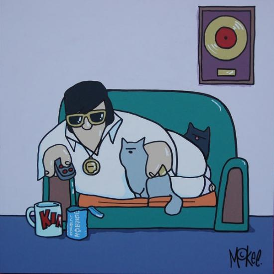 At Home With Elvis by Pete McKee