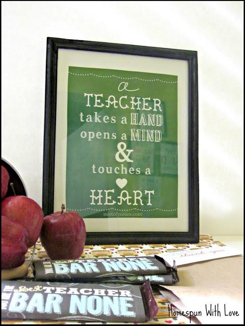 Teacher Appreciation Gift 2013