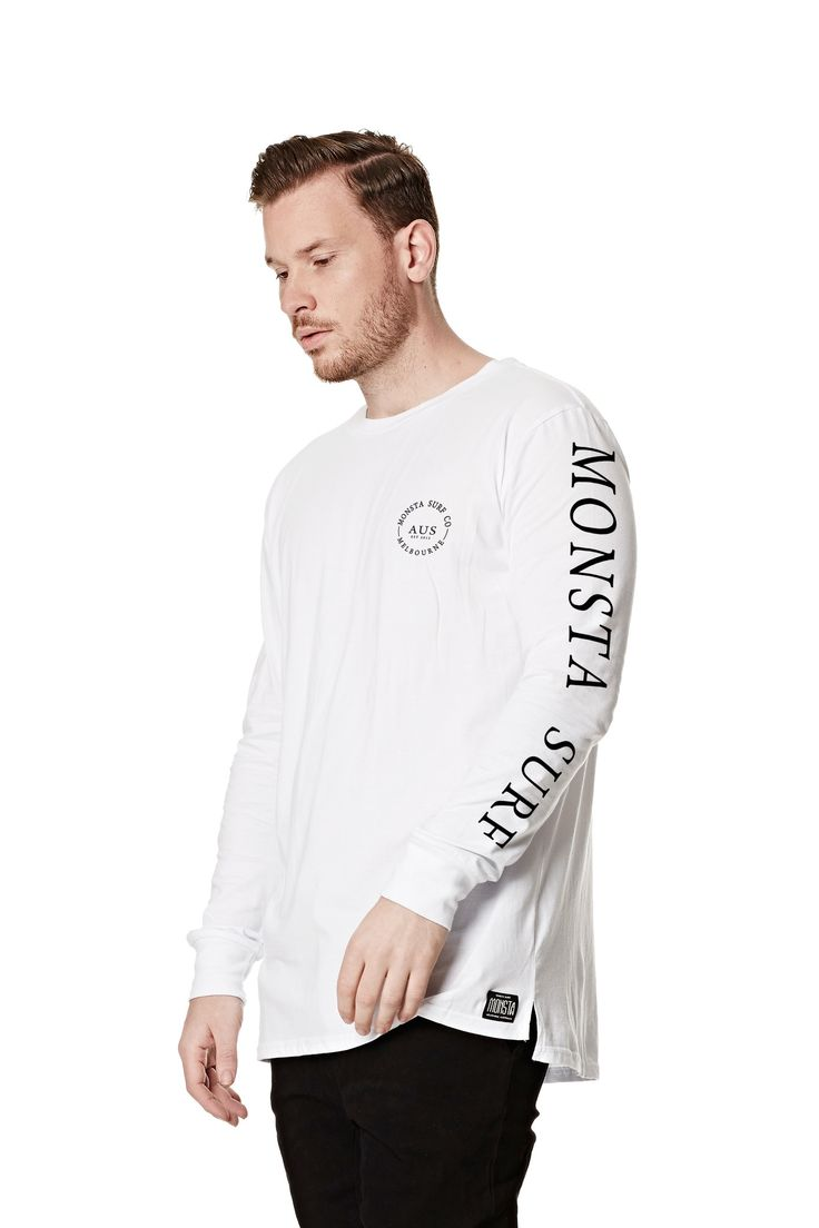 Mens Worldwide LS Tee White from Monsta Surf