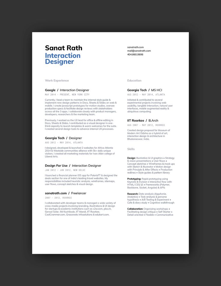21 Inspiring Ux Designer Resumes And Why They Work