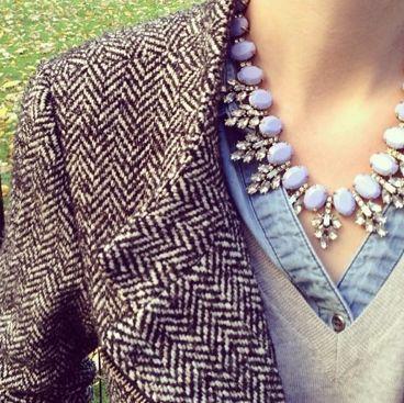tweed   diamonds   denim   camel- love