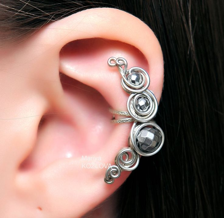 90 best images about ear cuff with beads and wire design. Black Bedroom Furniture Sets. Home Design Ideas