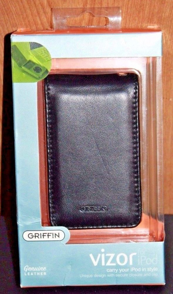 GRIFFIN Vizor Leather case Black for iPod 5th Gen VIZOR for iPod 30GB 60GB NEW! #Griffin #Case