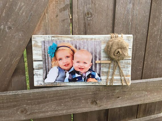 Rustic Wooden Picture Frame / Note Holder / Wooden Frame /