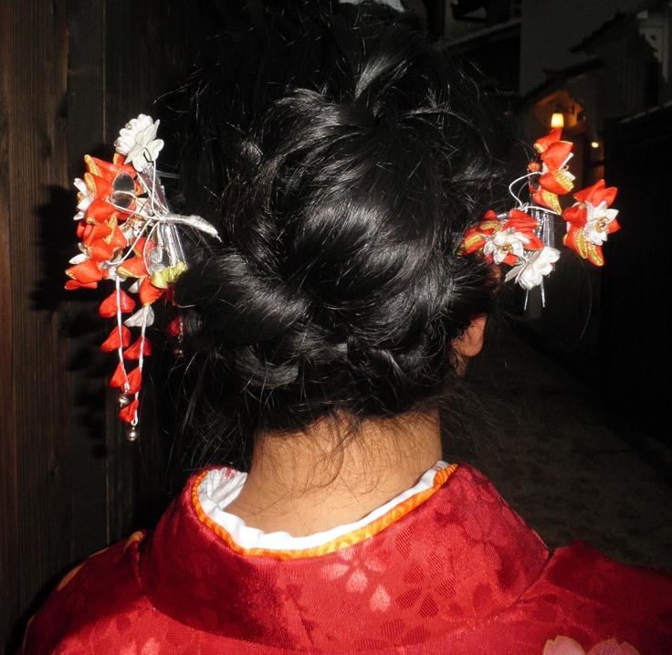 Hair do for kimono