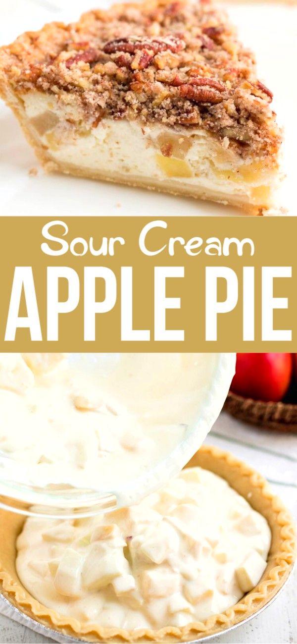 Sour Cream Apple Pie Sour Cream Apple Pie Apple Cream Pie Recipe Dessert Pie Recipes