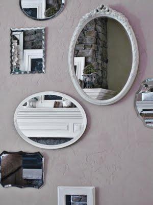 mirror gallery wall @ primp