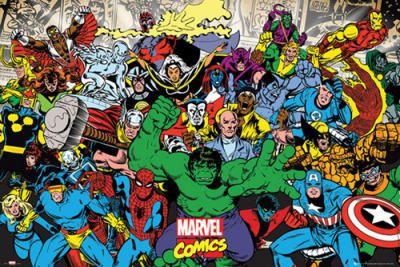 Marvel - Characters - Marvel Comics Affiches d'Art - Easyart.fr