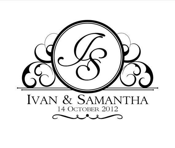 custom wedding logo design by invitationsbyemily on etsy With wedding invitation logo creator