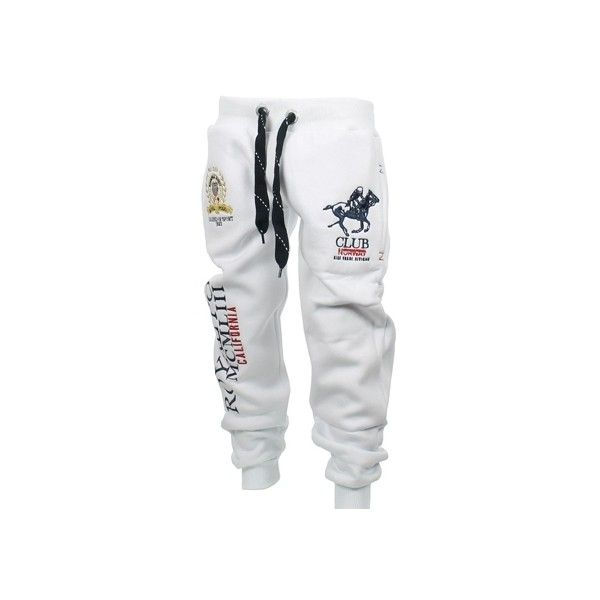 pinterest: juicedkeezy | Pantalon Jogging Enfant Geographical Norway Polo Pant Blanc featuring polyvore, fashion, clothing, pants, bottoms, jeans, sweats and leggings