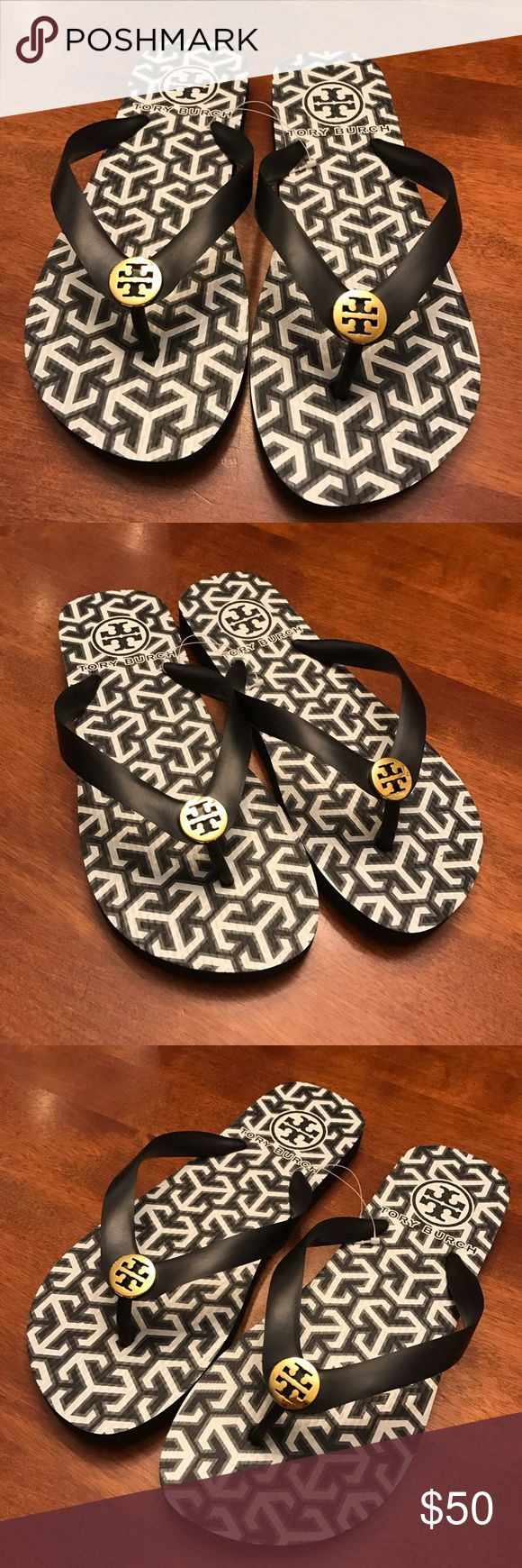 NWOT TORY BURCH FLIP FLOPS NWOT TORY BURCH FLIP FLOPS! Black. Never worn. Size 7 true to size! Tory Burch Shoes Sandals