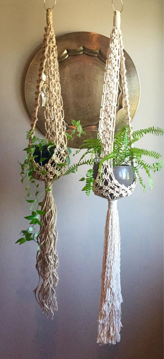 This Listing is for the Macramé Pattern to make the above Stella Macramé Plant Hangers. You can make both the Short Stella version (shown in Jute) or the Long Stella version (shown in White Cotton). This is an Intermediate Pattern so youll need to know the beginner knots: Square Knot, Alternating Square Knot & Wrapping Knot. My Beginner Knots & Techniques Manual is not included.  This pattern will show how to do the Add-On Square Knot Technique to give the basket effect to the cradle...