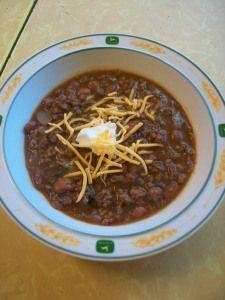 tomato-free chili :: a cold weather favorite!