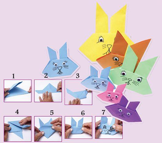 origami coelho páscoa