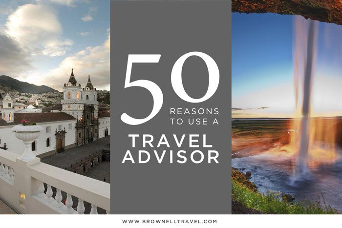 "Reasons to Use a Travel Agent	 					 					   As Travel Advisors we can't keep track of how often we are asked, ""Why should I use a travel advisor?"" At social gatherings, on flights, sitting in the waiting room at the dentist—you name it—there is always someone asking that question upon hearing what we do. Sure, you can log onto a travel website and quickly book a hotel. But that website isn't going to rebook your flight if the airline cancels. It's not going to send a bottle of Champagne to…"