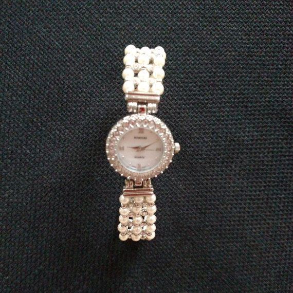 Watch Rhinestone Simulated Pearls for Women by YanaMisiTreasures