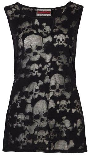 Jawbreaker - Burnout Skulls Gothic Vest Top