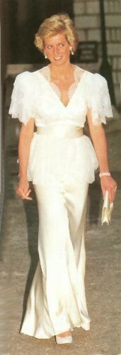 July 5, 1990:  Princess Diana attends a Reception at the Courtauld Gallery, Somerset House.