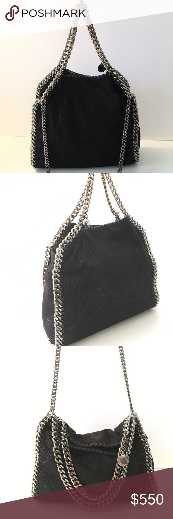 ⚡️Flash Sale⚡️ Stella McCartney Mini Falabella Bag Mini Falabella - Shaggy Deer' Faux Leather Tote handbag purse  STELLA MCCARTNEY Authentic!  Condition: Please see all photos for representation of the condition. -Some oxidation of the handle hardware (see         photos)  use zoom -Dust Bag not included.  Details: Softly structured tote features gleaming chain edging, top carry handles and a longer strap.  💖-Please view all photos before purchasing. Stella McCartney Bags Totes