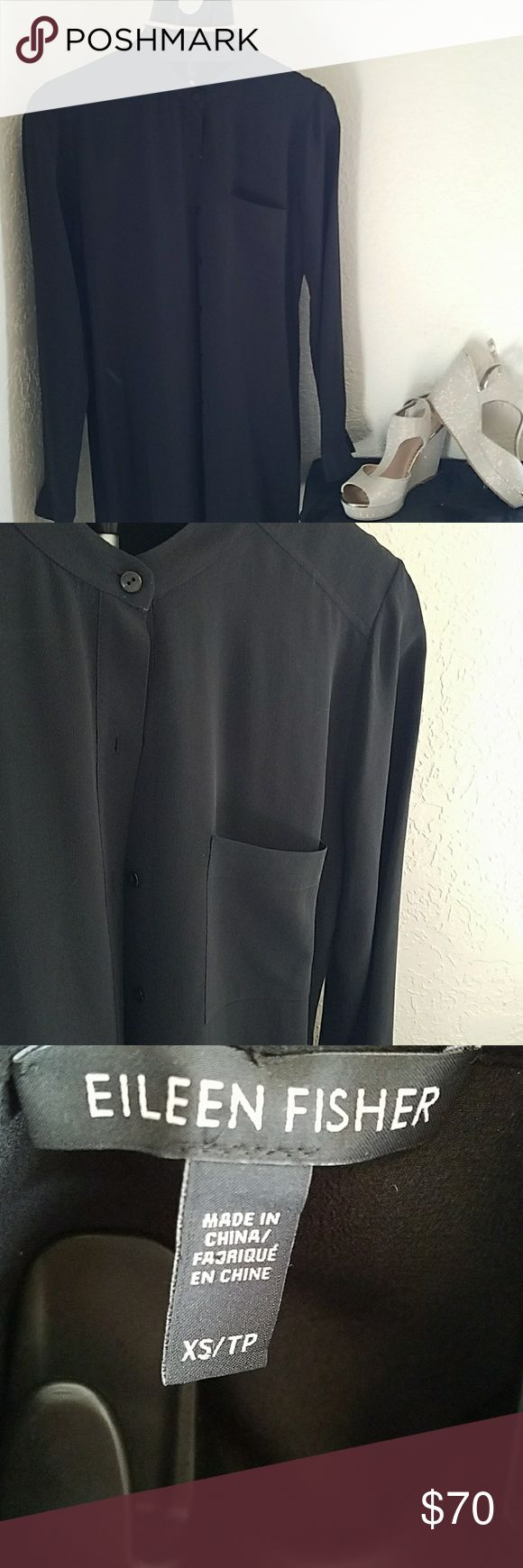 🍁NWOT Eileen Fisher🍁 Black Tunic Dress New with out tags tunic dress. Eileen Fisher Dresses Long Sleeve