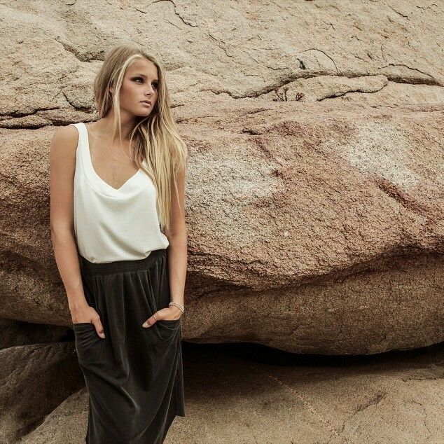 Gorgeous modal skirt and beautiful summer tank top ♥ SHOP SOON AT WWW.IBEK.SE