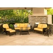 Chicago Wicker Augusta 6 PC Seating Group. at Kmart.com  I love wicker furniture and the yellow seat covers look fantastic!