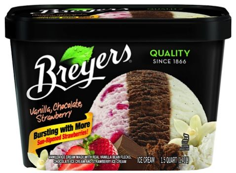 Breyers Ice Cream Coupon: $1.00 off 2!  Keep cool this 4th of July and Summer~