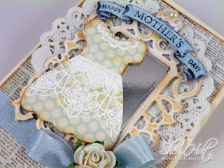 Close up of Sheri Holt's Mother's Day card using Classic Lace Edges One & Two.