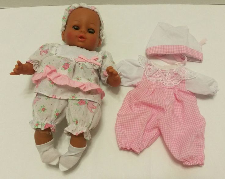 """Cititoy - African American Baby Doll - Toy 1992 (Cloth Body) Open & Close Eyes 11"""" #HKCityToys #Doll  ..... Visit all of our online locations..... www.stores.ebay.com/ourfamilygeneralstore ..... www.bonanza.com/booths/Family_General_Store ..... www.facebook.com/OurFamilyGeneralStore"""