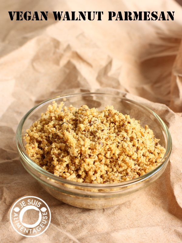 """#Vegan walnut parmesan - """"cheesy"""" flavour with some extra goodness from walnuts! 