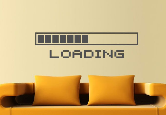 Loading Bar Wall Decal Decor for Nerds - Geeky Decoration