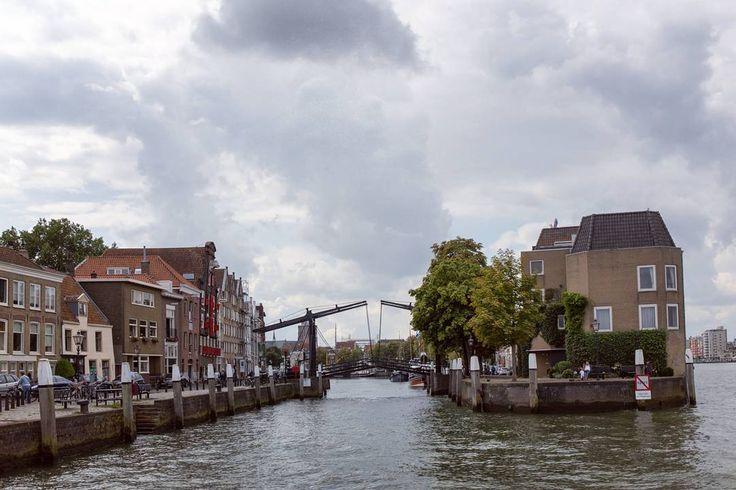 Visiting Dordrecht - pretty town located near the large national park.  #netherlands #eu #europe #dordrecht #water #bridge #channel #oldbuildings #oldtown #gkurushin #travel #blog