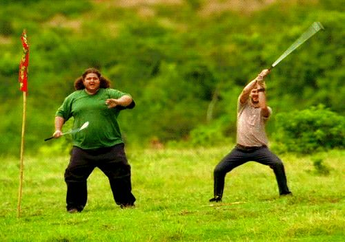 Its Hurley and Charlie.. lol