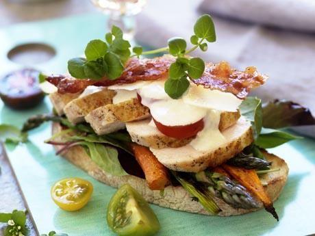 Kyckling med rostade primörer och tryffelcrème Receptbild - Allt om Mat