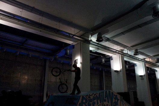 ITALY. Milan. December 15, 2013. BMX Contest@Ventura 15 in the former Faema Factory.
