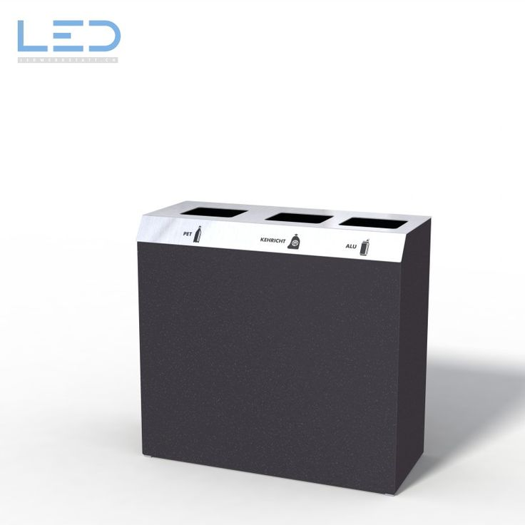 C3-Bin Recyclingstation, Wertstoffbehälter, Abfallbehälter PET, Abfall, Alu