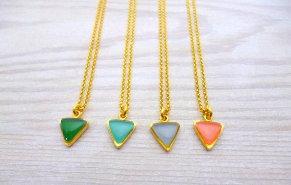 Hey, I found this really awesome Etsy listing at https://www.etsy.com/listing/269232387/triangle-chain-necklace-geometric