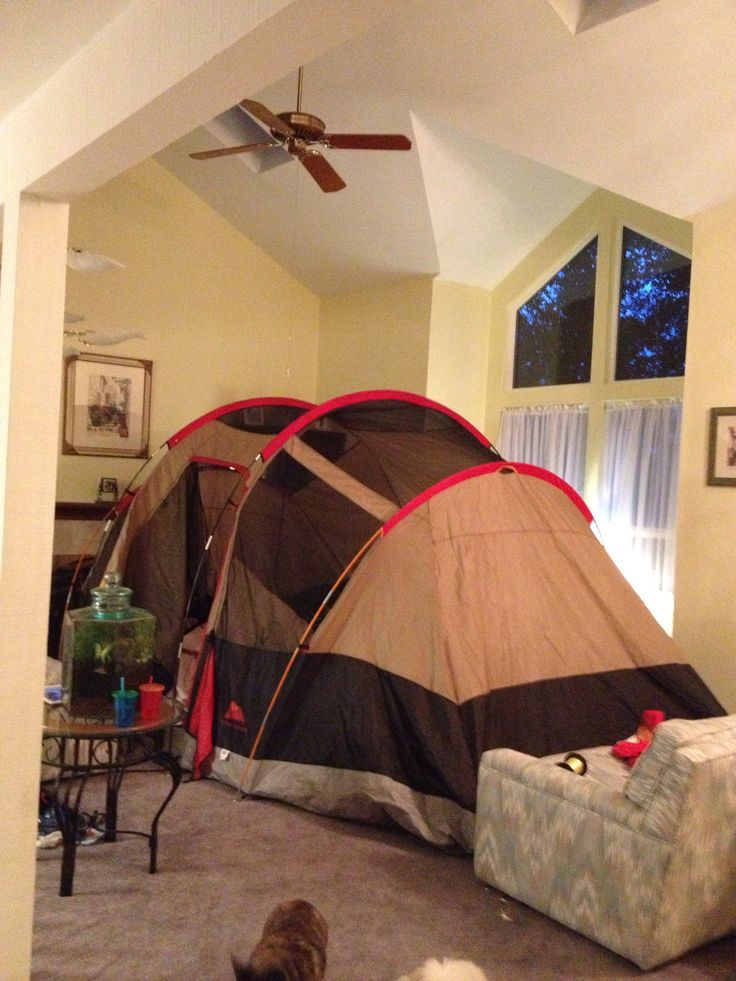 camping in the house