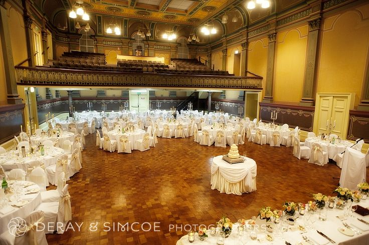 Grand wedding reception in an old theatre