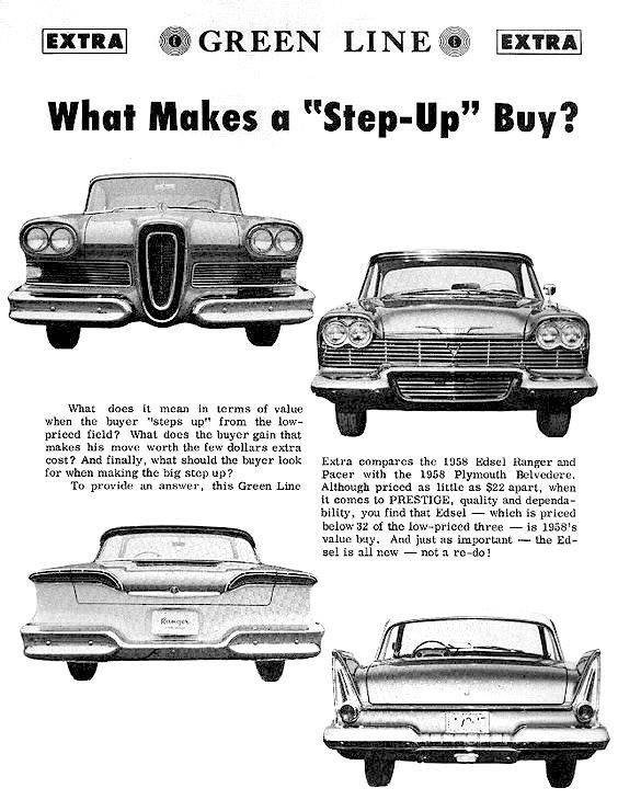 Pin By Doug Pellom On Auto Ads American Classic Cars Classic Cars Trucks Edsel