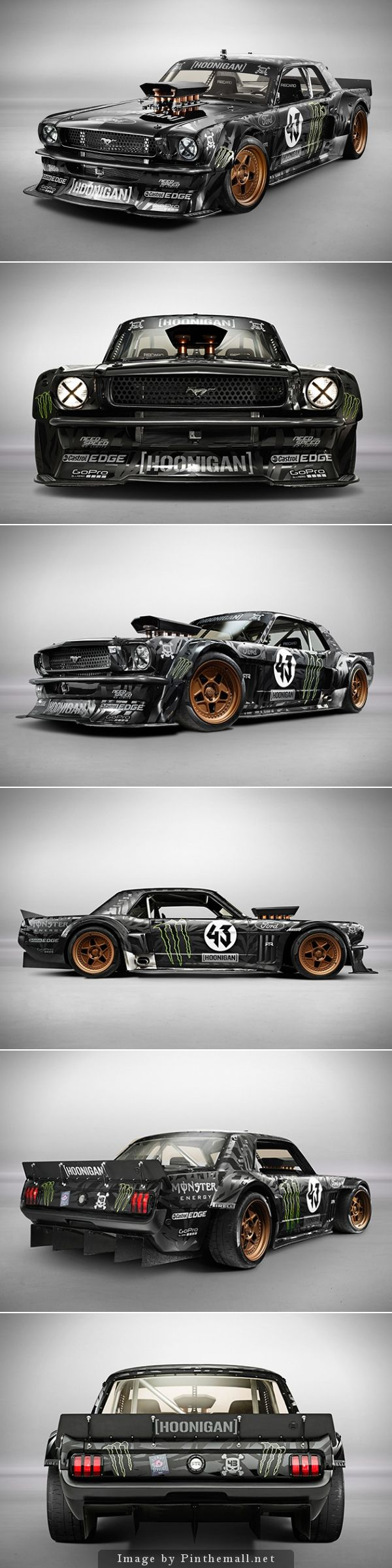 Ken Block's 1965 Ford Mustang Hoonicorn 4 wheel drive about 1000hp