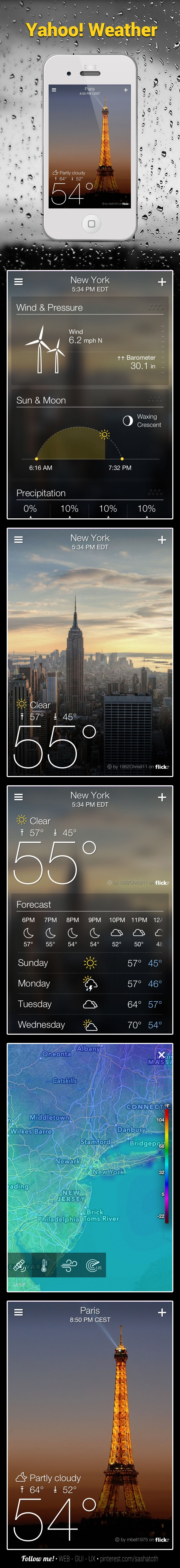 Yahoo! WEATHER *** Yahoo has launched a new standalone iPhone weather app called Yahoo! Weather, along with an upgraded version of its Yahoo! Mail app that brings the native mail app experience to the iPad. source:macrumors *** #iphone #yahoo #weather