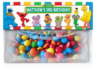 Sesame Street Birthday Goodie Bag Toppers Party Favors Elmo